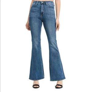 Just black High Rise Side Slit Flare Jeans 27